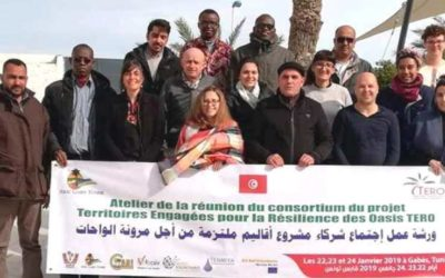 La 2ème réunion de consortium pour l'équipe du projet TERO à Gabès, Tunisia