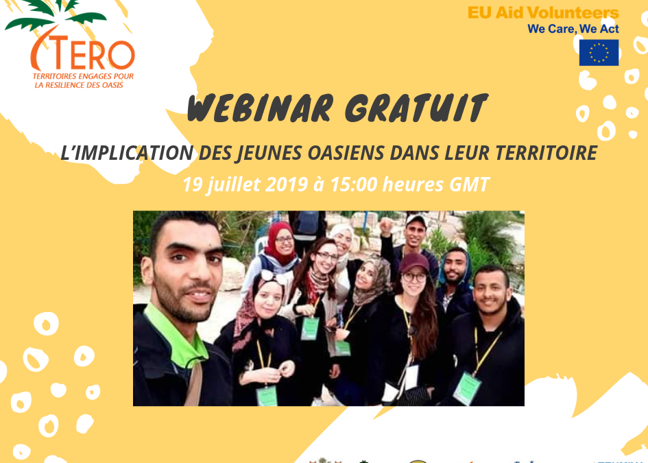 FREE WEBINAR | THE INVOLVEMENT OF YOUNG PEOPLE IN THE TERRITORIES OF THE OASES – 19 JULY AT 16 CET